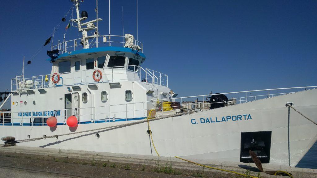 Research vessel Dallaporta in the harbour